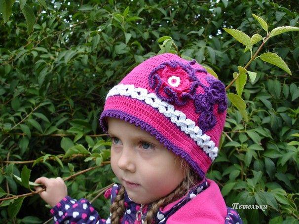 Вязание шапочки крючком на осень
